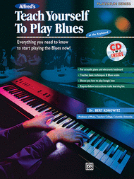 Alfred's Teach Yourself To Play Blues at the Keyboard - Book/CD Sheet Music by Bert Konowitz