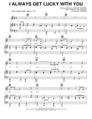 I Always Get Lucky With You Sheet Music by George Jones
