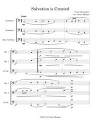 Salvation Is Created - Trombone Trio Sheet Music by Pavel Grigorievich Chesnokov