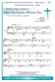 Make This Church a Welcome Place Sheet Music by Joel Raney