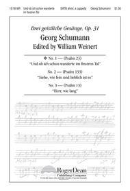 Und Ob Ich Schon Wanderte in Finstren Tal Sheet Music by Georg Schumann