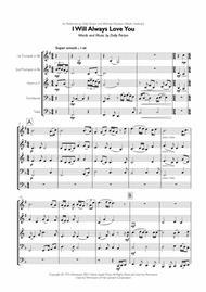 Whitney Houston/Dolly Parton - I Will Always Love You for Brass Quintet Sheet Music by Whitney Houston