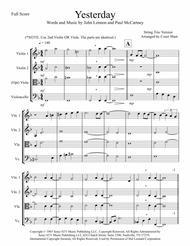 Yesterday for String Trio Sheet Music by The Beatles