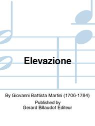 Elevazione Sheet Music by Giovanni Battista Martini
