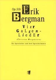 Vier Galgenlieder Op. 51B Sheet Music by Erik Valdemar Bergman