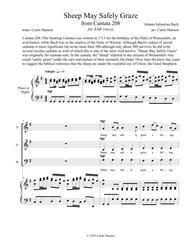 Sheep May Safely Graze (SAB) Sheet Music by Johann Sebastian Bach