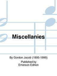 Miscellanies Sheet Music by Gordon Jacob