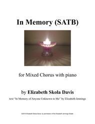 In Memory Sheet Music by Elizabeth Skola Davis
