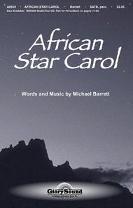 African Star Carol Sheet Music by Michael Barrett