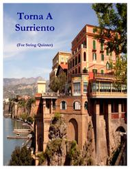 Torna A Surriento (Come Back To Sorrento) (for String Quintet and Piano) Sheet Music by Ernesto De Curtis