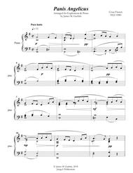 Franck: Panis Angelicus for Euphonium & Piano Sheet Music by Cesar Auguste Franck