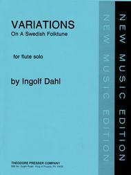 Variations on A Swedish Folktune Sheet Music by Ingolf Dahl
