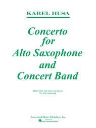 Concerto for Alto Saxophone and Concert Band Sheet Music by Karel Husa