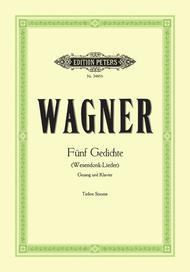 5 Wesendonck Lieder Sheet Music by Richard Wagner