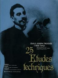 25 Etudes techniques Sheet Music by Emile Joseph Trognee