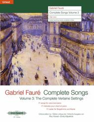 Complete Songs Volume 3 Sheet Music by Gabriel Faure