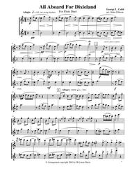 All Aboard for Dixieland for Flute Duet Sheet Music by George Cobb