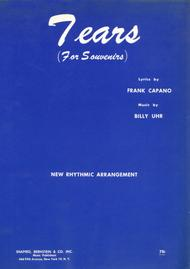 Tears (For Souvenirs) Sheet Music by Rudy Vallee; Ken Dodd etc