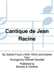 Cantique de Jean Racine Sheet Music by Gabriel Faure