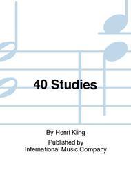 40 Studies Sheet Music by Henri Kling