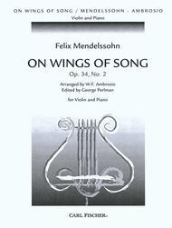 On Wings of Song Sheet Music by Felix Bartholdy Mendelssohn