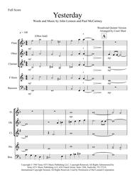 Yesterday - Woodwind Quintet Sheet Music by The Beatles