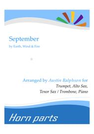 September - horn parts and piano Sheet Music by Earth Wind and Fire
