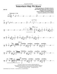 Somewhere Only We Know - Drums Sheet Music by Glee Cast