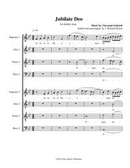 Jubilate Deo Sheet Music by Giovanni Gabrieli