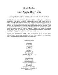 Pine Apple Ragtime (Brass) Sheet Music by Scott Joplin