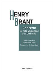 Concerto For Alto Sax And Orchestra Sheet Music by Henry Brant