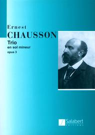 Piano Trio in G Minor Sheet Music by Ernest Chausson