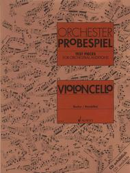 Test pieces for orchestral auditions cello Sheet Music by Various