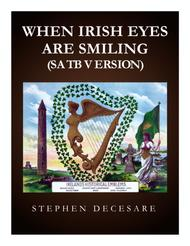 When Irish Eyes Are Smiling (SATB) Sheet Music by Ernest R. Ball