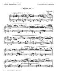 Turkish Dance Suite Sheet Music by Hasan Ferit Alnar