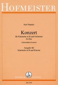 """Konzert fur Klarinette und Orchester Es-Dur (""""Darmstadter Konzert"""") / KlA Sheet Music by Carl Stamitz"""