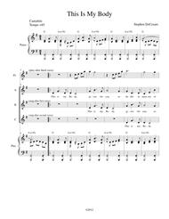 This Is My Body Sheet Music by Stephen DeCesare