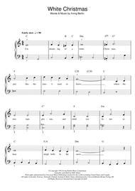 White Christmas Sheet Music by Bing Crosby
