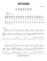 Ten Words Sheet Music by Joe Satriani