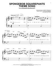SpongeBob SquarePants Theme Song Sheet Music by TV Theme Song