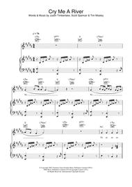Cry Me A River Sheet Music by Justin Timberlake
