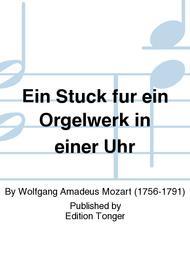 Ein Stuck fur ein Orgelwerk in einer Uhr Sheet Music by Wolfgang Amadeus Mozart