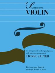 Starters for Violin Sheet Music by Salterl