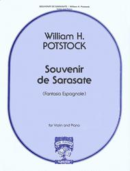 Souvenir De Sarasate Sheet Music by William Potstock