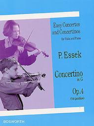 Concertino in G Op. 4 Sheet Music by Paul Essek
