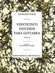 25 Estudios Para Guitarra Sheet Music by Napoleon Coste