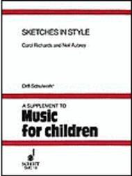 Sketches in Style Sheet Music by Carol Richards
