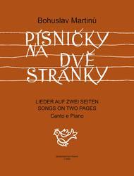 Liedchen auf zwei Seiten Sheet Music by Bohuslav Martinu
