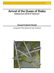 Arrival of the Queen of Sheba for Flute Quartet Sheet Music by George Frideric Handel