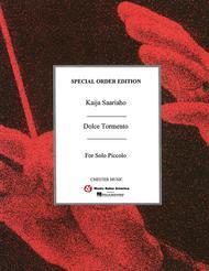 Dolce Tormento (Solo Piccolo) Sheet Music by Kaija Saariaho